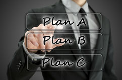 Choosing Plan A Stock Photography