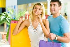 Choosing presents Stock Images