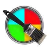 Choosing right color Stock Photos