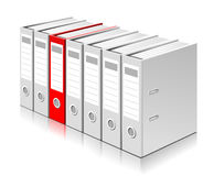 Choosing the right folder with documents Royalty Free Stock Photos
