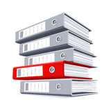 Choosing the right folder with documents. Choosing the most important folder with documents vector illustration