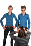 Choosing the right one Stock Images