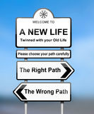 Choosing the right path. Stock Photos