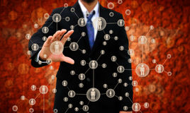 Choosing the right person. Businessman Choosing the right person Stock Photography