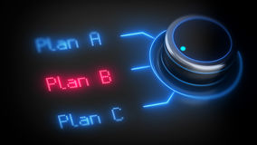 Choosing right plan B. Royalty Free Stock Image