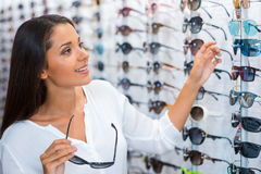 Choosing the right sunglasses. Stock Images