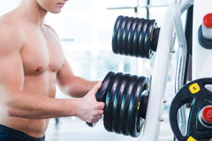 Choosing a right weight. Royalty Free Stock Photos