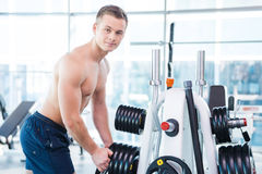 Choosing the right weight. Royalty Free Stock Photos