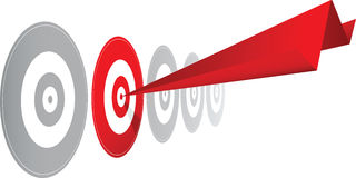 Choosing the right winning target option Stock Image