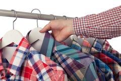 Choosing a shirt Stock Photos