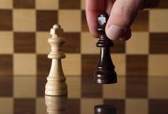 Choosing a side. Chess metaphor Stock Photos