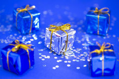 Choosing a unique gift for Christmas Royalty Free Stock Photo
