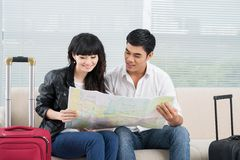 Choosing the way of travelling Stock Image