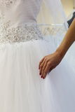 Choosing a wedding dress. Stock Image
