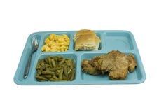 свинина обеда chop кафетерия Стоковая Фотография