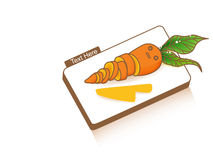 Chop Chop Carrot. Vector File EPS10 Royalty Free Stock Images