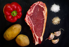 Chop cow Stock Images