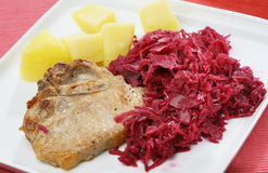 Chop eith cabbage Stock Photos