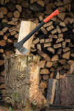 Chop firewood Royalty Free Stock Image