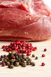 Chop meat and papper Royalty Free Stock Photos