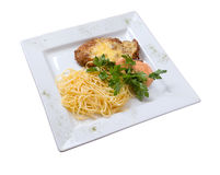 Chop on Milan with paste   isolated Royalty Free Stock Image
