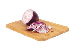 Chop onion and half of onion Stock Photo