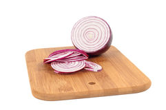 Chop onion and half of onion Royalty Free Stock Photos