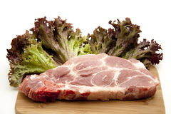 Chop raw Stock Photo