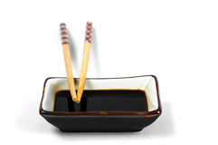 Chop Stick And Soy Sauce Royalty Free Stock Images