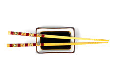 Chop Stick Ans Soy Sauce Royalty Free Stock Photos