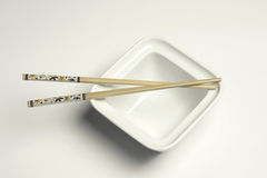 Chop sticks and bowl Royalty Free Stock Image