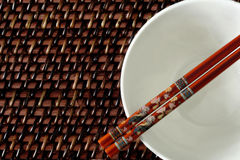 Chop Sticks and Bowl Stock Photography