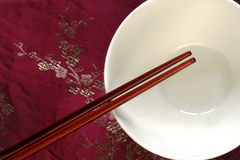 Chop Sticks and Bowl Stock Images