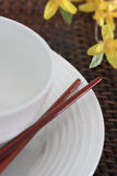 Chop Sticks, Bowl and Plate Stock Photography