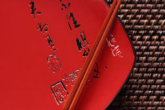 Chop Sticks and Japanese Platter Royalty Free Stock Photos