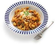 Chop suey americano, goulash americana imagens de stock