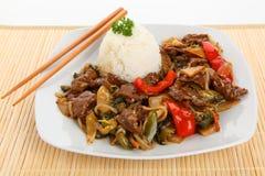Chop suey da carne foto de stock