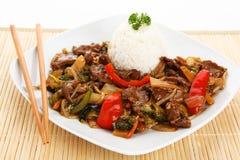 Chop suey da carne imagens de stock