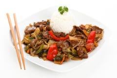 Chop suey da carne imagem de stock royalty free