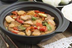 Chop suey da carne de porco imagem de stock
