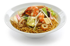 Chop suey on deep-fried noodles Royalty Free Stock Image