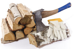 Chop wood 2 Stock Photos