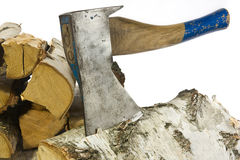 Chop wood 3 Royalty Free Stock Images
