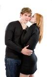 chłopak seksowna całowanie jej kobieta Zdjęcie Stock