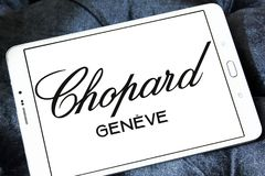 Chopard制表者和珠宝制造者商标 图库摄影