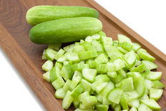 Choped cucumber Stock Images