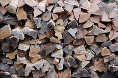 Choped firewood Royalty Free Stock Images