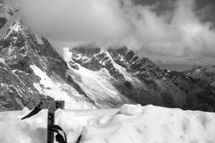 Chopicalqui peak Stock Photo