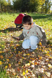 chłopiec bawić się Zdjęcie Royalty Free