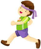 chłopiec bieg Zdjęcie Royalty Free